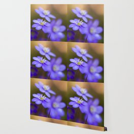 Happy Together Blue Anemones In Forest #decor #Society6 Wallpaper