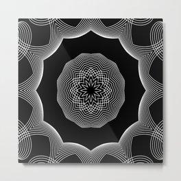 Simple Lines Mandala 3 Metal Print