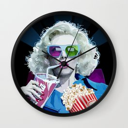 Watching Movie Wall Clock