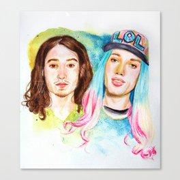 ezra & tommie Canvas Print