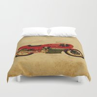 ducati Duvet Covers featuring Ducati 900 MHR 1980 by Larsson Stevensem
