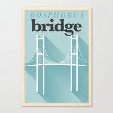 Minimal Bosphorus Bridge Poster Canvas Print