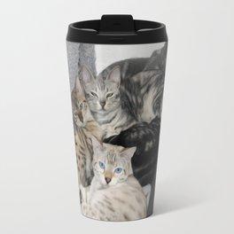 Bengal Cat Kitty Pile  Travel Mug