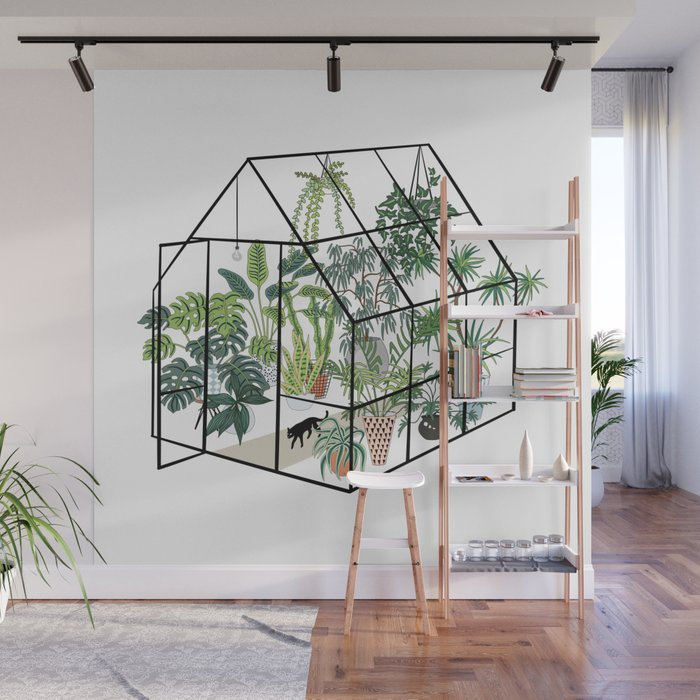 greenhouse with plants Wall Mural