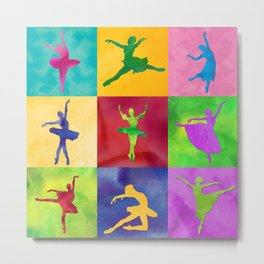 AP125 Watercolor dancer Metal Print
