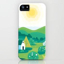 Landscape village iPhone Case