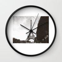 eiffel Wall Clocks featuring eiffel by ingardens