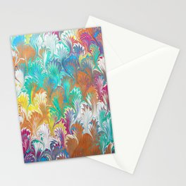 Thistle Water Marbling Stationery Cards