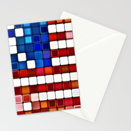 Old Glory Abstract Stationery Cards