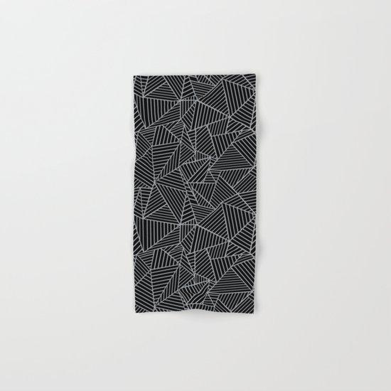 Ab 2 R Black and Grey Hand & Bath Towel