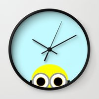 minion Wall Clocks featuring Minion by whosyourdeddy