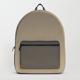 Brown and Tan Gradient Ombre Fade Blend 2021 Color of the Year Urbane Bronze and Ivoire Backpack