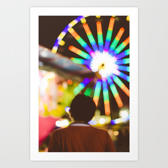 Lights will guide you Art Print