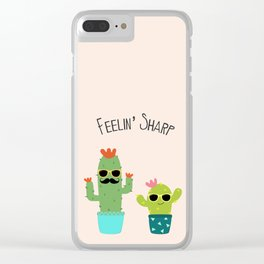 Feelin' Sharp Clear iPhone Case