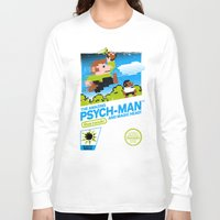 psych Long Sleeve T-shirts featuring The Amazing Psych-Man and Magic Head! by girardin27