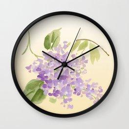 floral lilac Wall Clock