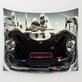 "1956 Lotus ""Eleven"" Racing Car Wall Tapestry"