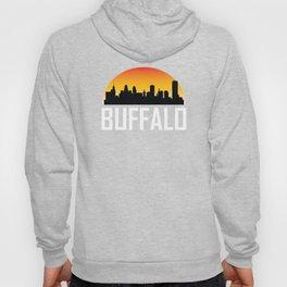 Sunset Skyline of Buffalo NY Hoody