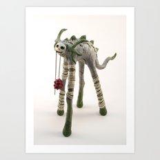 Green TallBeast Art Print
