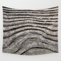 concrete Wall Tapestries featuring Concrete Wood by Ethna Gillespie