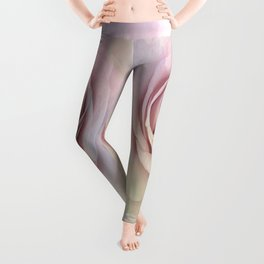 Forever My Love Pink Rose Abstract Leggings