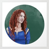 merida Art Prints featuring Merida by Christine Ring