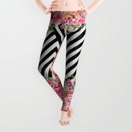 flowers geometric Leggings