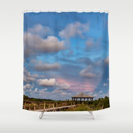 Eastern Sky at Sunset on the Gulf Coast Shower Curtain