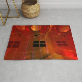 the crooked red room Rug