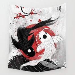 Koi fish - Yin Yang Wall Tapestry