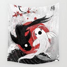 Koi fish - Yin Yang Wandbehang