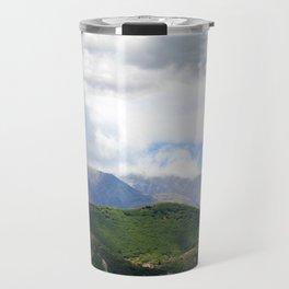 Saint Under The Clouded Sky Travel Mug