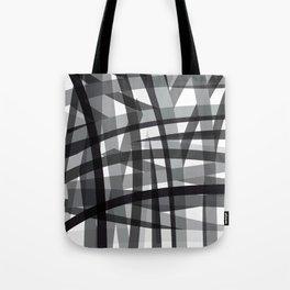 grey crossed stripes Tote Bag