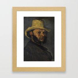 Gustave Boyer in a Straw Hat Framed Art Print
