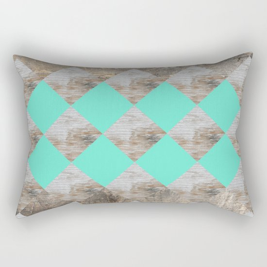 GeometricWood Rectangular Pillow