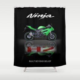 Kawasaki Power beat Shower Curtain