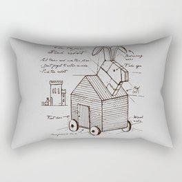 trojan rabbit Rectangular Pillow