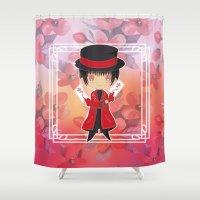 subaru Shower Curtains featuring Chibi Subaru Sumeragi by Neo Crystal Tokyo