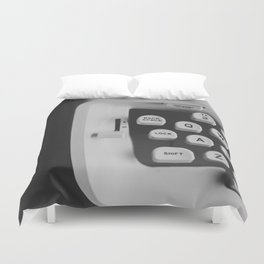 You're The Only One Missing // Vintage Black and White Typewriter Keys Duvet Cover