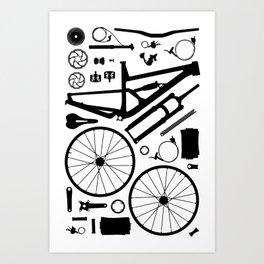 Bike Parts - SAM Art Print