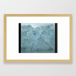 Glacier Beauty Up Close Framed Art Print