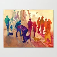 best friends Canvas Prints featuring Best friends by takmaj