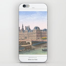 Paris art print Paris Decor office decoration vintage decor HOTEL DE VILLE of Paris iPhone Skin