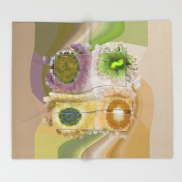 Lazed Consonance Flowers  ID:16165-024553-49331 Throw Blanket