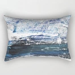 Gray-blue watercolor Rectangular Pillow