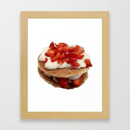 pancakes_strawberries_and_whip_cream Framed Art Print