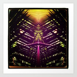 kaleidoscope palm Art Print