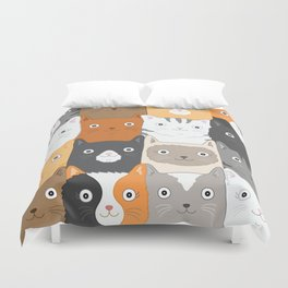 Herded Cats Duvet Cover