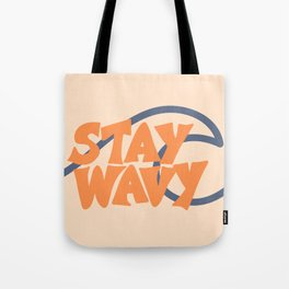 Stay Wavy Surf Type Tote Bag