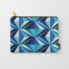 Colorful Triangles - Blue Carry-All Pouch